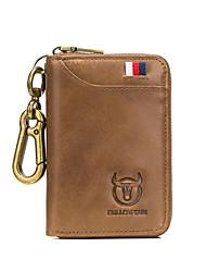 Недорогие -(bullcaptain) мужская кожаная сумка для ключей от автомобиля бизнес универсальный дверной замок сумка из мягкой кожи мульти-карты положение портмоне ключ сумка