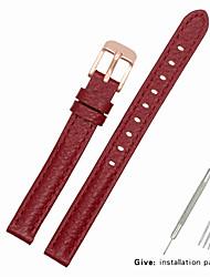Недорогие -Настоящая кожа / Кожа / Шерсть теленка Ремешок для часов Ремень для Красный Прочее / 17см / 6,69 дюйма / 19cm / 7.48 дюймы 1cm / 0.39 дюймы