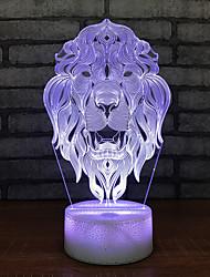 Недорогие -светодиодный 3d ночник детская игрушка прикроватная подсветка дистанционный сенсорный выключатель база красивый белый 7 цвет меняется 3d лампочка