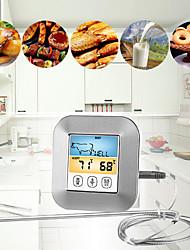 Недорогие -кухонный таймер барбекю температура приготовления пищи мясо гриль барбекю водонепроницаемые зонды духовка приготовление пищи метр сигнализация дисплей красочный экран