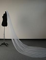 Недорогие -Два слоя Античный / Элегантный и роскошный Свадебные вуали Фата для венчания с Гребень в виде цветка 118,11 в (300см) Тюль