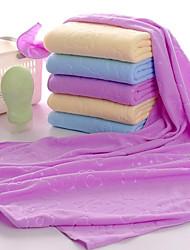 Недорогие -Высшее качество Банное полотенце, Однотонный / Мультипликация / Мода Полиэстер / Хлопок / 100%микро волокно Ванная комната 1 pcs