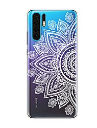Недорогие -Кейс для Назначение Huawei Huawei P20 / Huawei P20 Pro / Huawei P20 lite Защита от удара / Прозрачный / С узором Кейс на заднюю панель Цветы Мягкий ТПУ / P10 Lite / P10