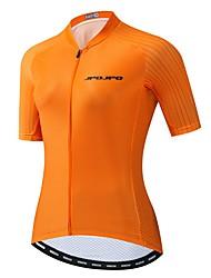 hesapli -JPOJPO Kadın's Kısa Kollu Bisiklet Forması Turuncu Bisiklet Tracksuit Forma Üstler Nefes Alabilir Spor Dalları Polyester Elastane Terylene Dağ Bisikletçiliği Yol Bisikletçiliği Giyim / Mikro-Esnek