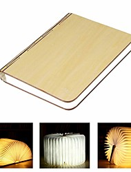 Недорогие -1 шт. Светодиодная книжная лампа ночник теплый белый батареи работает складной перезаряжаемый творческий новинка декоративный свет / 1 шт.
