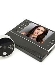 Недорогие -3,5-дюймовый смарт-визуальный кошачий глаз сухой батареи питания камеры видео электронный дверной звонок не беспокоить функцию