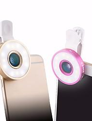 Недорогие -Объектив для мобильного телефона Объектив фиш-ай / Широкоугольный объектив / Макролинза Стекло / пластик Макрос 10X 10 mm 0.03 m 185 ° Линза / объектив в чехле / Линза / объектив с LED