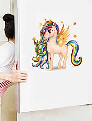 Недорогие -стикеры на стену с милыми мультяшными животными - стикеры на стенах для животных / комната для изучения ландшафта / офис / столовая / кухня-f