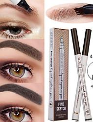 Недорогие -4 жидких карандаш для бровей водонепроницаемый и прочный естественный долговечный макияж глаз