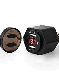 Недорогие -5v 4.2a автомобильное зарядное устройство двойной USB-порты светодиодный цифровой дисплей вольтметр для грузовика автомобиль мотоцикл внедорожник