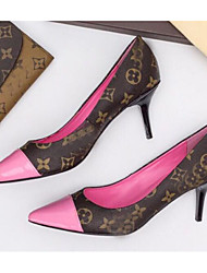 Недорогие -Жен. Обувь на каблуках На шпильке Наппа Leather Весна Черный / Розовый