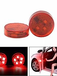 Недорогие -2 шт. 5 светодиодные двери автомобиля открыты сигнальная лампа анти-столкновения красный мигающий сигнальная лампа водонепроницаемый с магнитным датчиком