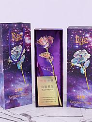 Недорогие -24k золотая фольга роза день рождения китайский день святого валентина подарок один цветок
