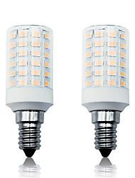 Недорогие -Loende 2pack 7 Вт светодиодные кукурузные фонари 100-265 В 900LM E14 66 светодиодов лампа smd5730 белый / теплый белый
