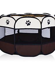 Недорогие -Собаки Клетки Кровати Животные Корпусы Складной На каждый день Однотонный Коричневый Розовый Светло-синий