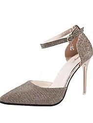 Недорогие -Жен. Обувь на каблуках На шпильке Квадратный носок Tissage Volant На каждый день Весна & осень Золотой / Черный / Серебряный