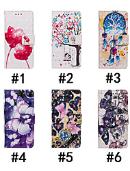 cheap -Case For Apple iPhone XR / iPhone XS Max Flip / with Stand / Wallet Full Body Cases Tree / Flower / Butterfly Hard PU Leather for iPhone 6/6S / iPhone 6/6S Plus / iPhone 7/8 / iPhone 7/8 Plus