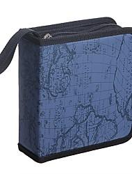 Недорогие -карта мира глобус держатель dvd 40 дисков dj органайзер для хранения бумажник сумка альбом (желтый)