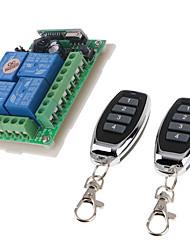 Недорогие -DC12V 4-канальный беспроводной пульт дистанционного управления / интеллектуальное реле приемник 10a реле / мгновенный / тумблер / защелкивающийся рабочий способ может изменить / 433 МГц легко