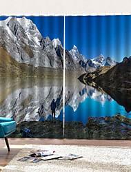 Недорогие -Европейский стиль 3d цифровая печать многоцелевой 100% полиэстер занавес утолщение затемнение теплоизоляция пылезащитный занавес для спальни гостиной