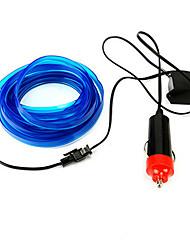 Недорогие -2 м гибкий неоновый свет автомобиля el трос трубки светодиодные полосы водонепроницаемый партия декор лампа с 12 В контроллер