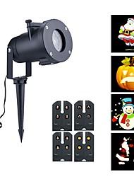 Недорогие -4 картины на открытом воздухе водонепроницаемый светодиодные рождественские снежинки прожектор лампы прожектор хэллоуин проектор