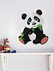 Недорогие -Симпатичные панда грызть бамбука стикер стены детская комната детский сад гостиная спальня съемный стикер обоев
