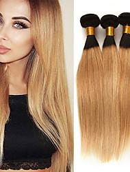 Недорогие -3 Связки Бразильские волосы Прямой 10A человеческие волосы Remy Накладки из натуральных волос 10-26 дюймовый Ткет человеческих волос Мягкость Лучшее качество Новое поступление