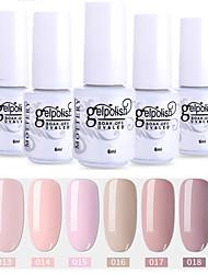 Недорогие -6 шт. Цвета 19-24 xyp выдержка / светодиодный гель лак для ногтей сплошной цвет лака для ногтей наборы
