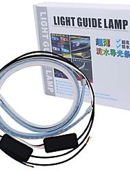 Недорогие -2 шт. RGB 60 см течет гибкий светодиодный drl последовательный указатель поворота waterproo фары полосы дневных ходовых огней дистанционного управления