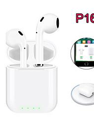 Недорогие -Новые всплывающие окна P16 TWS Bluetooth 5.0 Беспроводные наушники 4D стерео наушники Беспроводные зарядные наушники для смартфона