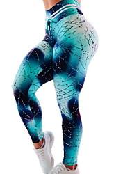 Недорогие -Жен. Штаны для йоги Контрастных цветов Бег Фитнес Тренировка в тренажерном зале Шорты Спортивная одежда Дышащий Влагоотводящие Быстровысыхающий Подтяжка Утягивание живота Тонкие