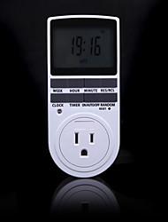 Недорогие -электронный цифровой таймер 24 часа циклический сша вилка кухонный таймер розетка программируемая розетка 220 В