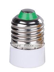 Недорогие -1шт 5 см от e27 до e14 85-265 v декоративная пластиковая розетка для лампочек белого цвета