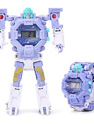 Недорогие -Мальчики электронные часы Цифровой Сказочный Стильные силиконовый Синий / Розовый / Фиолетовый 30 m Защита от влаги ЖК экран обожаемый Цифровой Мультяшная тематика Мода - Желтый Синий Розовый