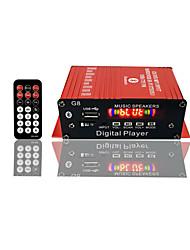 Недорогие -G8 Интеллектуальный цифровой усилитель мощности Встроенный Bluetooth-гарнитура Bluetooth / USB / SD / FM усилитель мощности