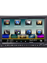 Недорогие -LITBest 7 дюймовый 2 Din Windows CE 6.0 GPS / RDS / WiFi для Универсальный Поддержка AVI / RMVB / DIVX MP3 / WMA / CD-диск JPEG