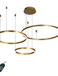 Недорогие -светодиодная круглая люстра 90 Вт / современные светодиодные подвесные светильники для гостиной кафе-бар шоу-рум / большой размер / теплый белый / белый / с возможностью затемнения с пультом