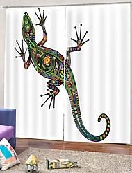 Недорогие -3d пвх цифровая печать геккон роскошные шторы на складе много шторы затемнения 100% полиэстер ткань офис / гостиная / гостиница