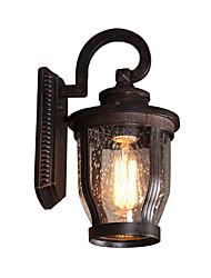 Недорогие -простой стеклянный настенный светильник водонепроницаемый садовые бра современные современные скрытые настенные светильники / наружные настенные светильники наружный алюминиевый настенный светильник