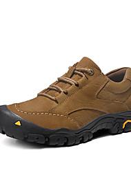 Недорогие -Муж. Комфортная обувь Наппа Leather Осень / Зима Спортивные Спортивная обувь Для пешеходного туризма Дышащий Ботинки Черный / Коричневый / Хаки / Нескользкий / Доказательство износа