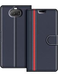 povoljno -Θήκη Za Sony Sony Xperia 10 Novčanik / Otporno na trešnju / Zaokret Korice Jednobojni Tvrdo PU koža za Sony Xperia 10