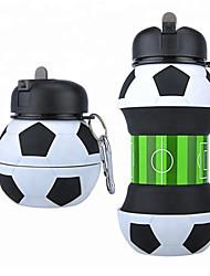 Недорогие -Бутылка для воды Складная бутылка для воды Силиконовые Портативные Складной для На открытом воздухе Путешествия Черный / Белый