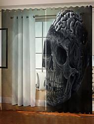 Недорогие -оптовые миниатюрные черепа 3d цифровая печать тема hallowmas занавес окна роскошные вечеринки шторы спальня гостиная декоративные затемнения 100% полиэстер ткань для штор