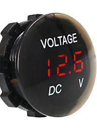 Недорогие -dc12v водонепроницаемый и пылезащитный вольтметр цифровой дисплей для грузовика автомобиля мотоцикла внедорожник