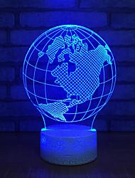 Недорогие -Главная глобус офис настольная лампа USB лампа красочные 3D питания настольная лампа