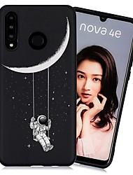 Недорогие -Кейс для Назначение Huawei Huawei P20 / Huawei P20 Pro / Huawei P20 lite Защита от удара / Матовое / С узором Кейс на заднюю панель Цвет неба ТПУ