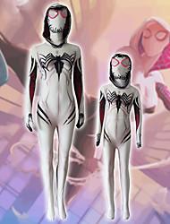 billiga -Cosplay Kostymer / Dräkter Superhjältar Barn Lycra® Cosplay-kostymer Fotlösa tights Mini-me Vit