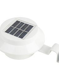 Недорогие -2pcs 3 W Свет газонные / Солнечный свет стены Работает от солнечной энергии Тёплый белый Аккумуляторы Уличное освещение 3 Светодиодные бусины