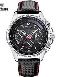 Недорогие -megir мужские кварцевые часы роскошные кожаные спортивные наручные часы дата часы кварцевые часы